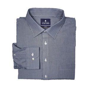 Stafford Black & White Long Sleeve Dress Shirt